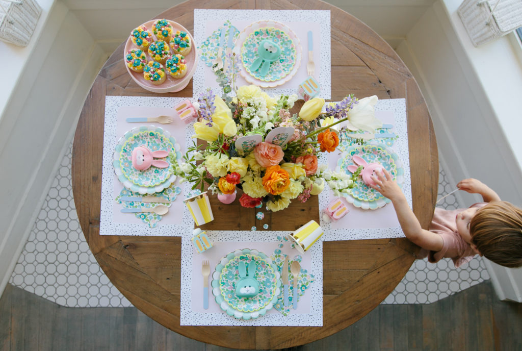 Easter Table Setting for Kids with Liberty Party Plates