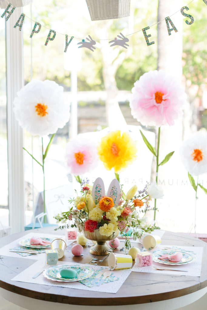 Happy Easter Banner and Easter Tablescape - Project Nursery
