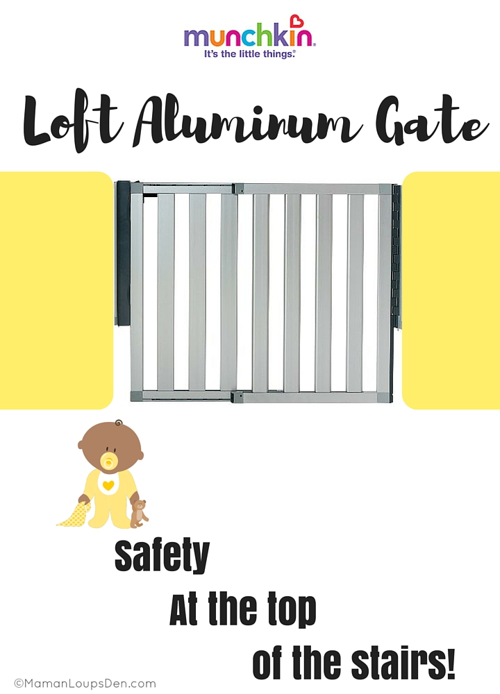 Loft Aluminum Gate Safety At the Top of the Stairs